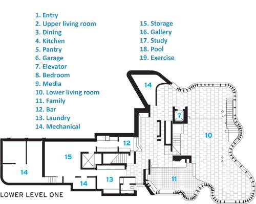Integral house floor plan