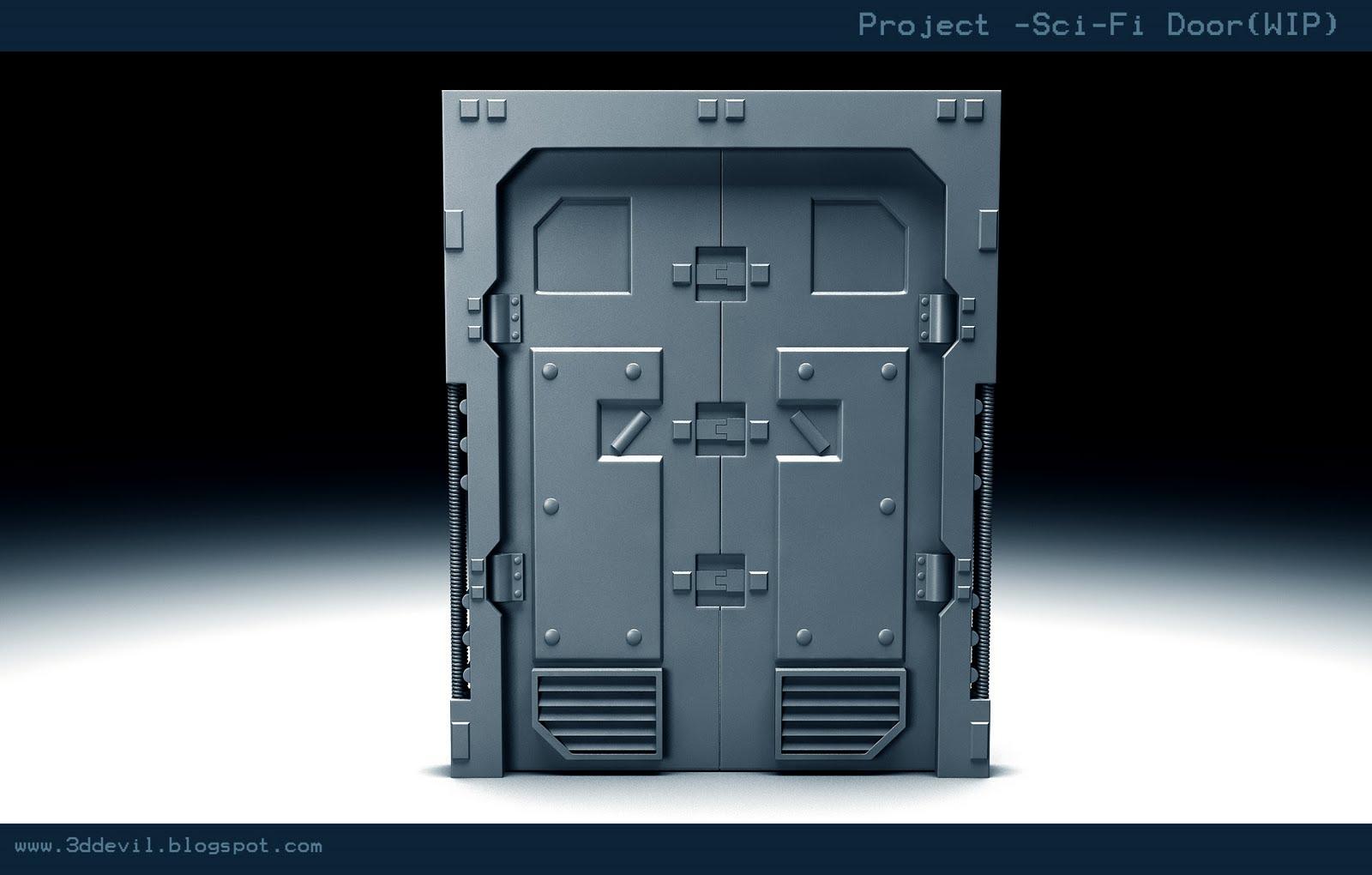 3ddevil sci fi door for Door 1 2 or 3