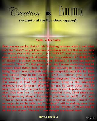 Creation vs Evolution Essay, Creation vs Evolution Debate, Creation vs ...