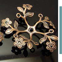 copper flower findings jewelrysupplies