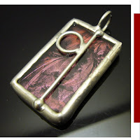 van gogh glue chipped soldered glass pendant