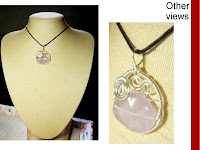 amethyst stone wirewrapped pendant