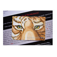 original aceo tiger eyes watercolour painting