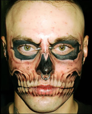 skull face tattoo. skull face tattoo. The update is like that ^^; The update is like that ^^