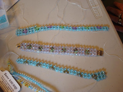bracelets in progress