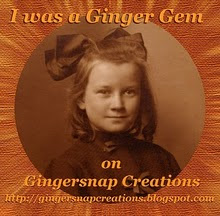 I made the Top 7 for my entry at Gingersnap Creations