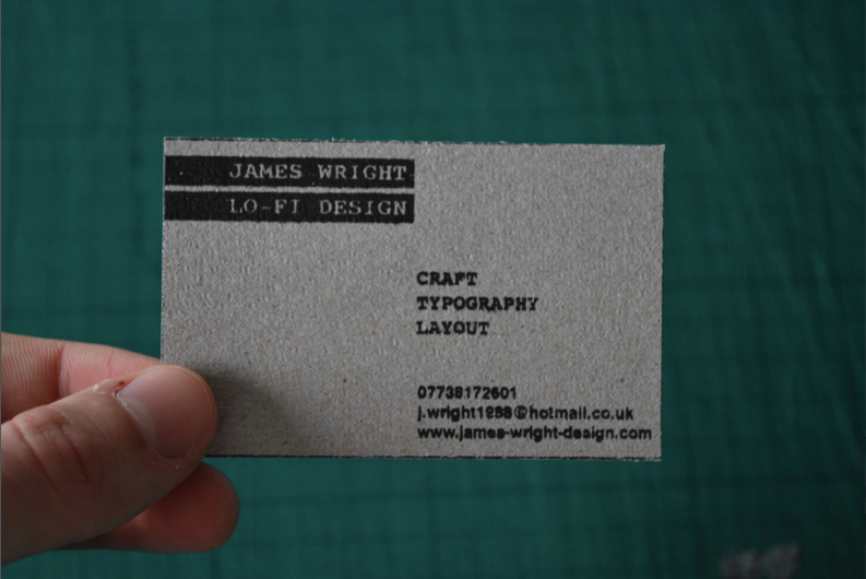Ppd screen printed business card for Screen printed business cards