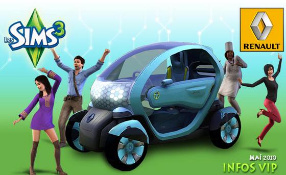 Renault Twizy Z.E. : les Sims 3 roulent déjà à l'électrique