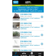 Applications Logic-Immo.com pour mobiles iPhone, Android et Nokia