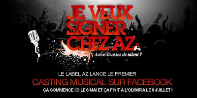 Casting musical sur Facebook avec AZ