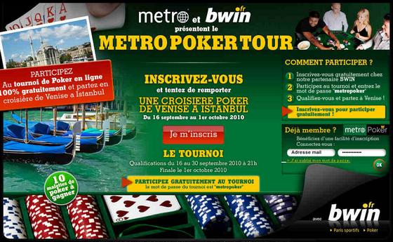Metro Poker Tour : une croisière poker à gagner