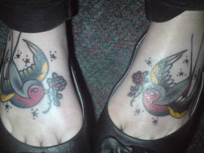A foot tattoo of Pac-Man and ghosts (Photo) Ink my feet