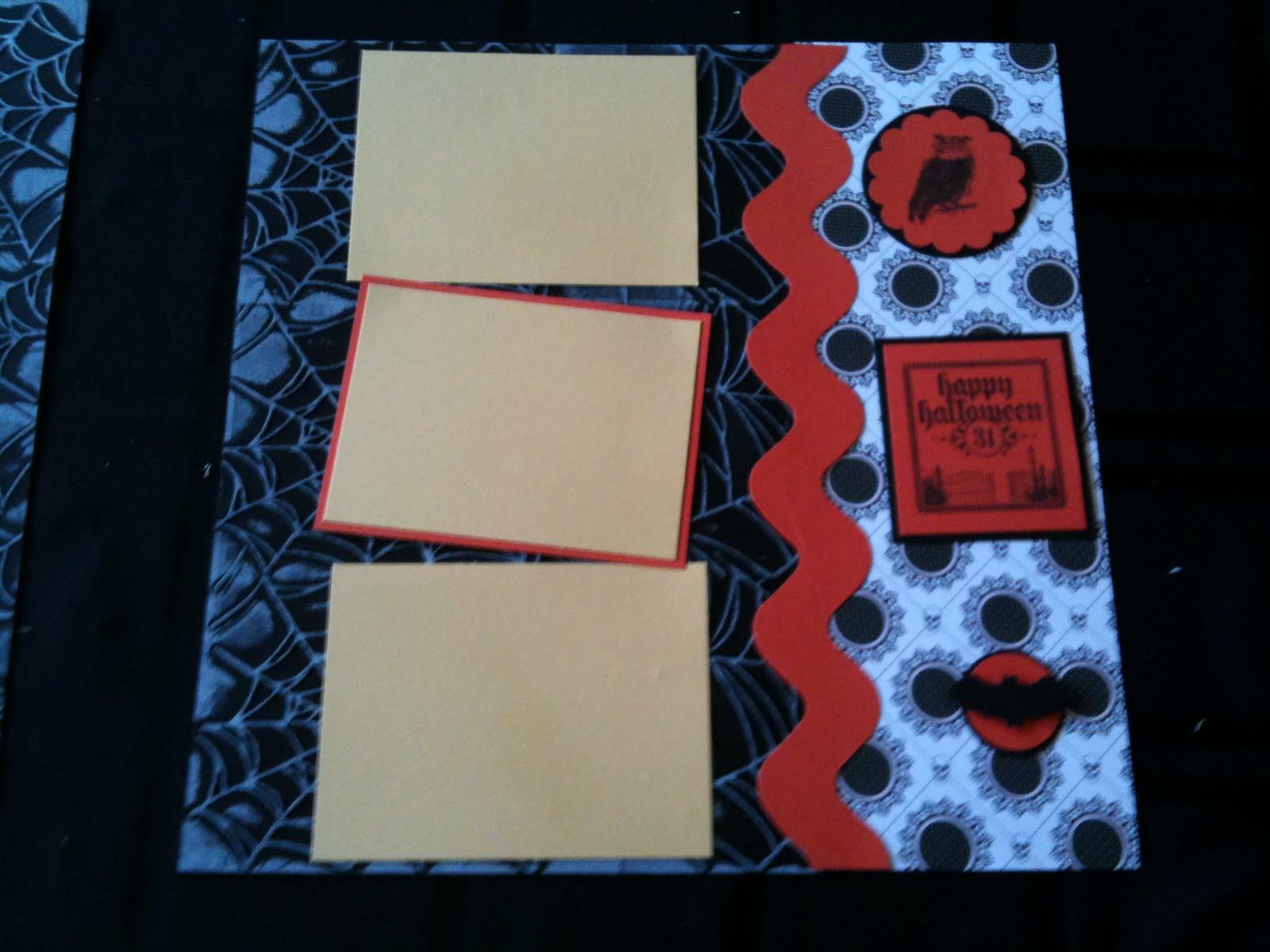Scrapbook ideas black background - Stamps Dark Dreary And House Of Haunts Cardstock Basic Black Tangerine Tango So Saffron Whisper White Designer Paper Nite Owl Ink Stazon Black