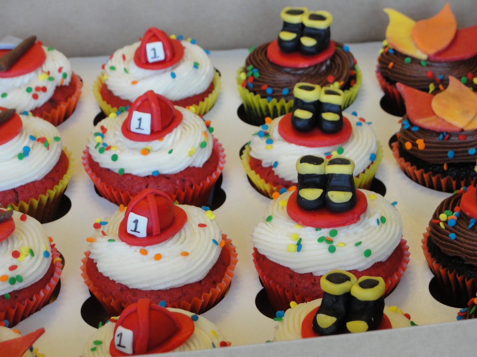 Firefighter Cupcake Decorations Oh Just Put A Cupcake In It First Birthday Fireman Cake And