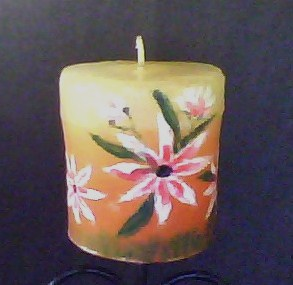 Anitakumarcandlecraft painted candles for Can you paint candles with acrylic paint