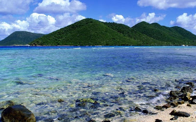 Saint John's Island - beauty green mountains