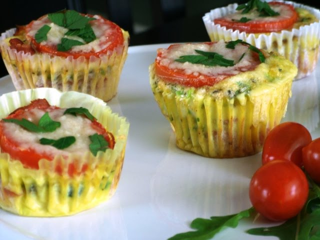 ... Eating: Bothersome Baby Brunch: Ham and Tomato Mini Frittatas