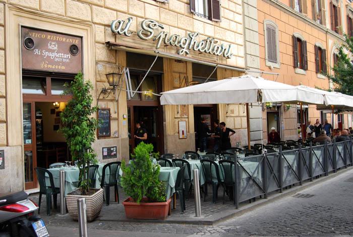 Restaurante em Roma, Itália Spaghettari