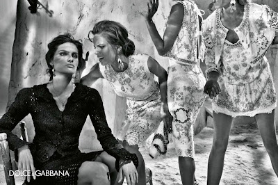 Dolce & Gabbana Women Spring / Summer 2011 Advertising Fashion Campaign Featuring Many Of The World's Top Supermodels