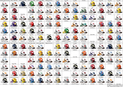 SimonOnSports: 2009 SEC Football Schedule (Helmet Style)