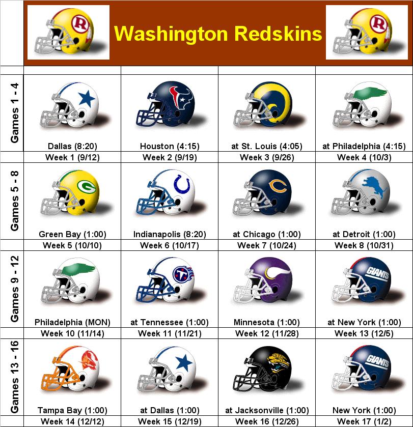 photo about Redskins Printable Schedule titled SimonOnSports: 2010 Washington Redskins Printable Helmet