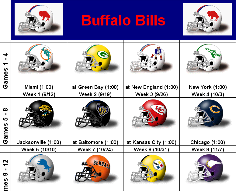 It's just an image of Witty Buffalo Bills Printable Schedule
