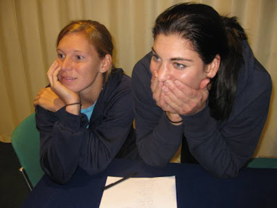 hope solo pictures. Lori Chalupny and Hope Solo