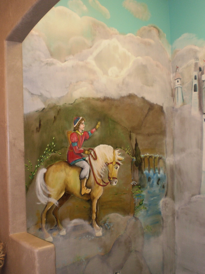 For your rooms only portfolio mural of fairy tale prince for Fairy tale mural
