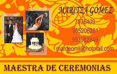 MAESTRA DE CEREMONIAS EN LIMA - PERU
