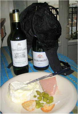 A little wine and cheese and Olga the Traveling Bra