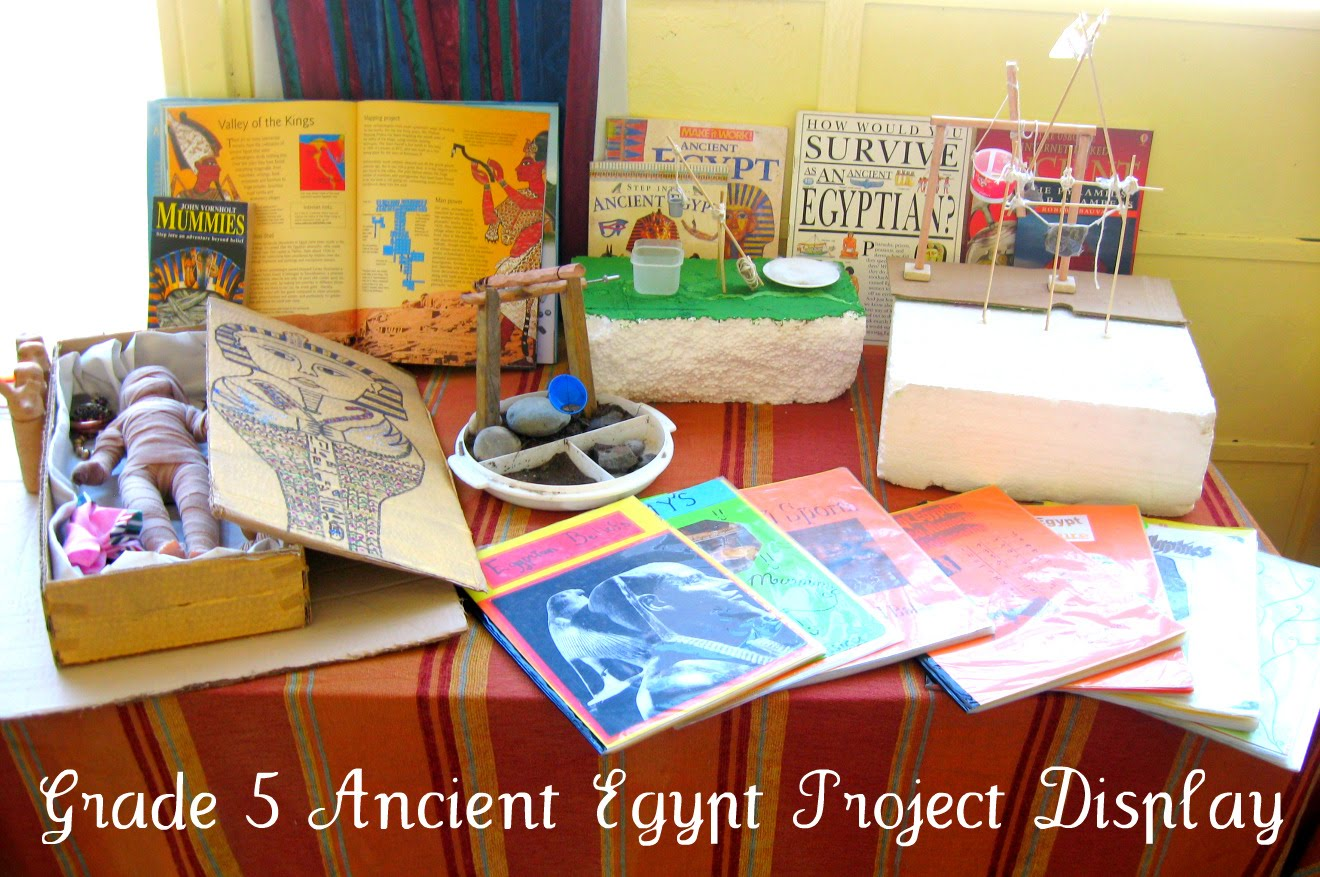 Miss tyler smith 39 s grade five class 2010 egypt project for Project display ideas
