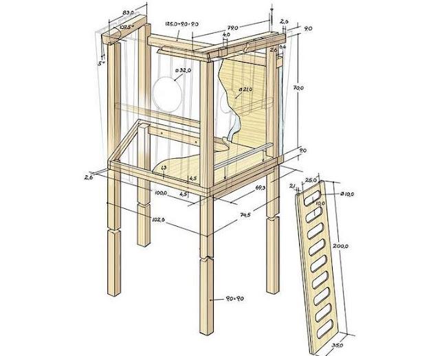 Схема домика: