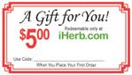 Get $5 Off Your First Order at iHerb