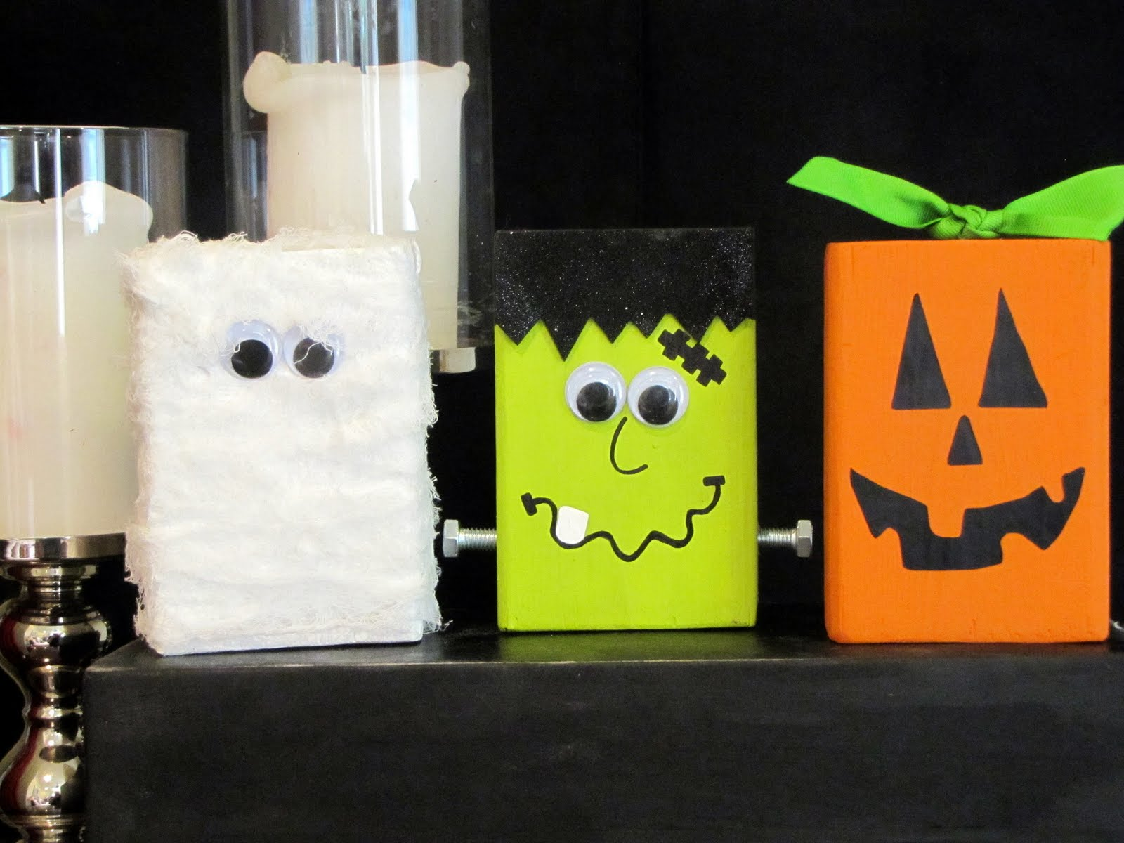 Me and my bucket spooky pals trio for Where to buy wood blocks for crafts
