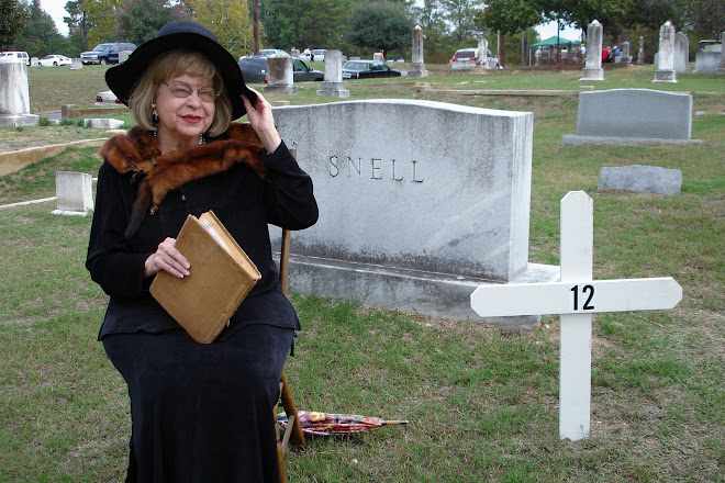 Cora Lou Robinson Playing A Part In The Minden Cemetery Ghost Walk