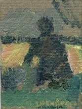 Paisaje, Óleo s/tabla,  7,5 x 11, 2003