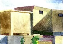 Paisaje Techos, Acuarela s/papel, 10 x 15