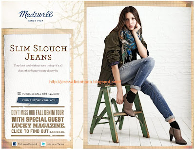 "Thanks! "" to Marietta who shared the email Madewell sent yesterday."