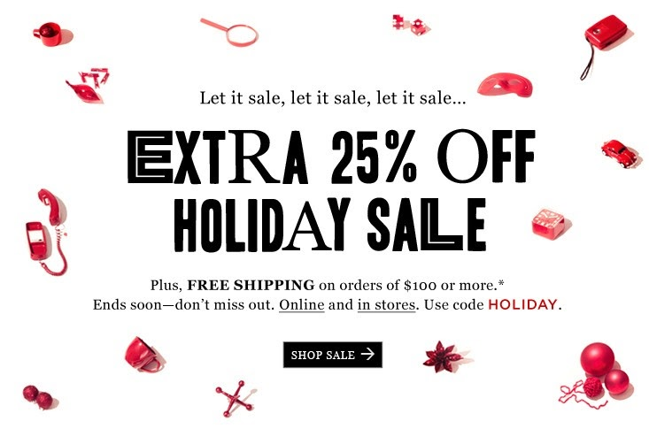 j crew aficionada madewell email extra 25 off holiday sale online and in stores free. Black Bedroom Furniture Sets. Home Design Ideas
