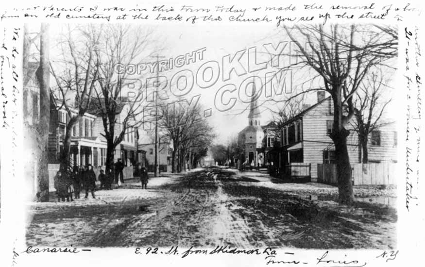 East 92nd street looking south from skidmore lane 1906