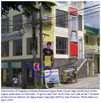 Intersection Tagaytay Calamba Road Ligaya Drive