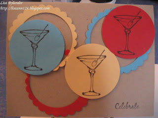 Michael's margarita stamp, stampin up, paper trey ink