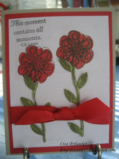 stampinup,  paper trey ink remember, poppy