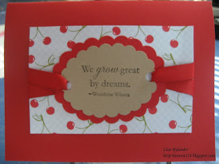 stampin up summer picnic, paper trey ink poppy, cornish heritage farms motivational centers