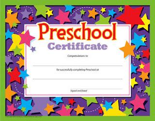 Moldes para Todo: *- Diploma de Preescolar -*