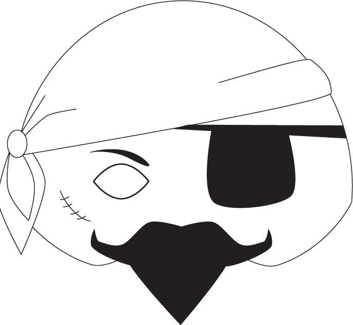 Moldes para Todo: *- Antifaz Pirata -