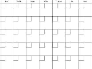 Moldes para Todo: ** Formatos de Calendarios **