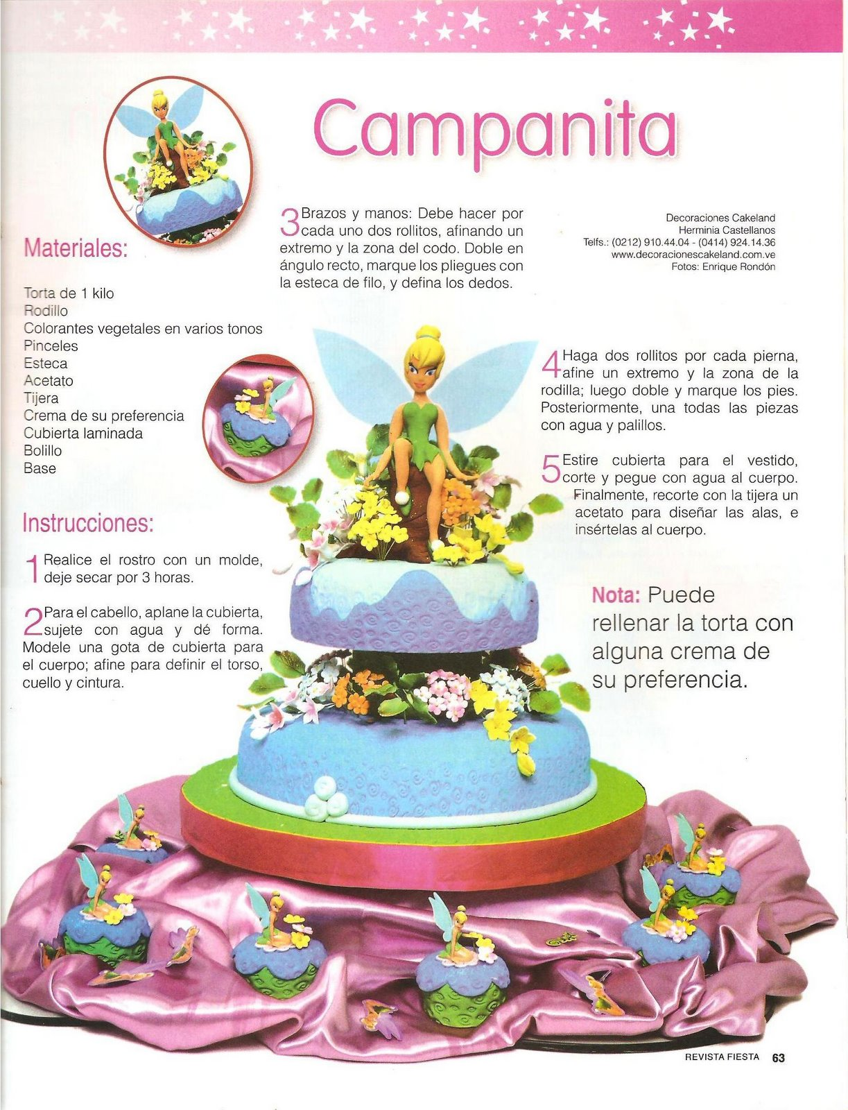 Moldes de: *♥* Campanita , *♥* Pasteles