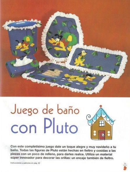 Juegos De Baño Moldes:Moldes para Todo: :: Juego de Baño con Pluto ::