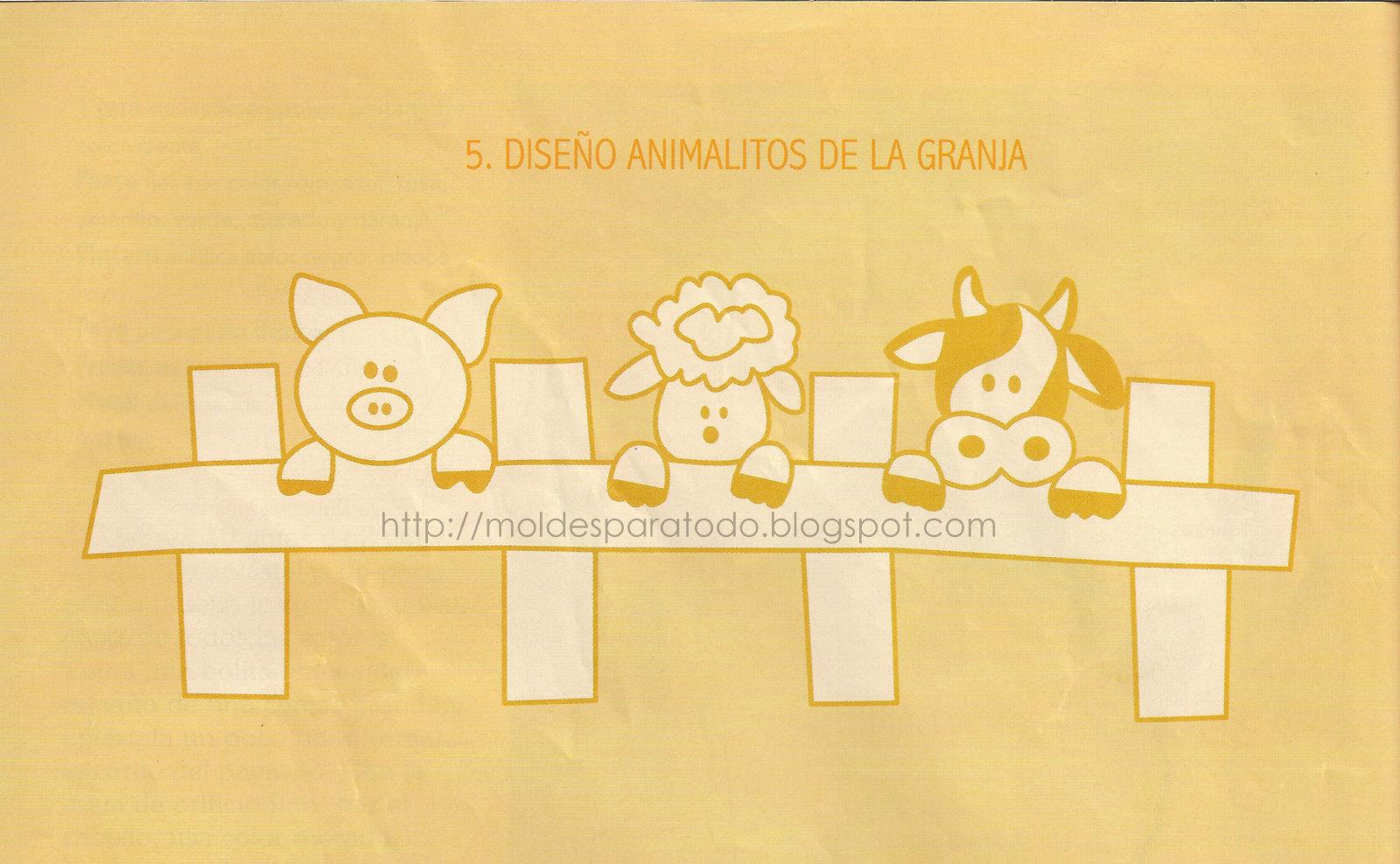 Moldes para Todo: = Especieros Animalitos de la Granja =